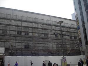 耐震等の工事中